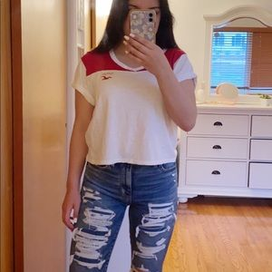 Red and White Tee